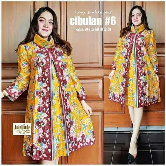 Jual Dress Batik Kerja Kantor Atasan Wanita Modern Terbaru Baju Batik 01 Biru M Kab Pekalongan Rumah Batik20 Tokopedia