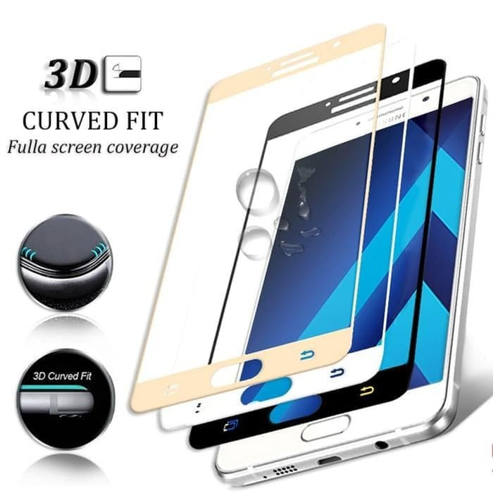 Tempered Glass Full 3D Samsung A7 2017 A720 Anti Gores Curved Warna -