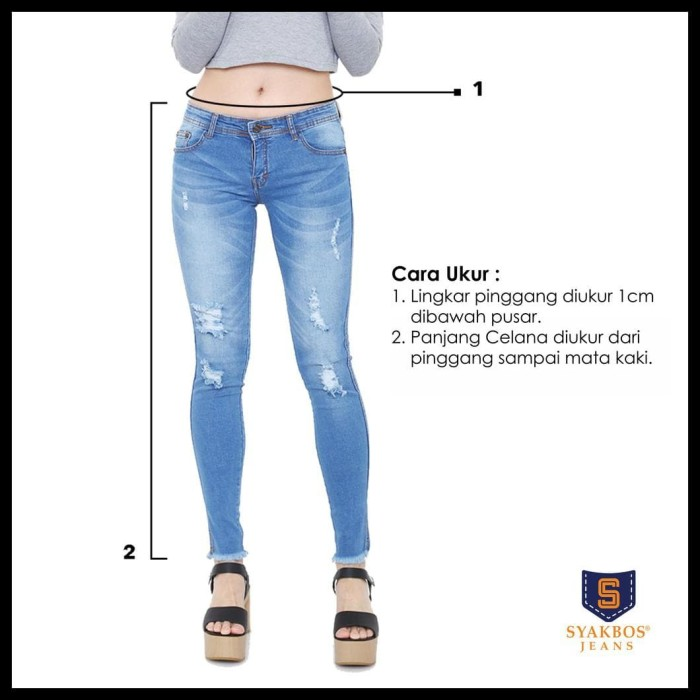 Jual Promo 27 38 Jeans Wanita Clara Legging Pinggang Karet Jakarta Barat Mm5olshop Tokopedia