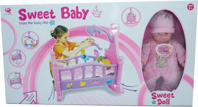 harga Boneka mainan bayi bersuara dengan ranjang ayun dan dot Tokopedia.com