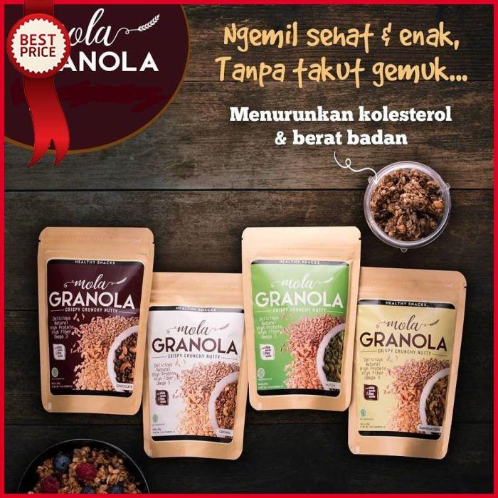 Mola Granola Healthy Snacks High Nutrition Netto 100gr