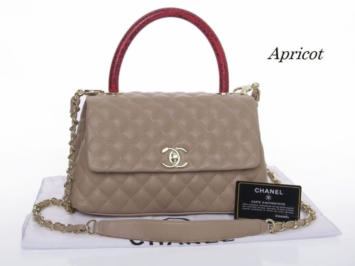 Jual Tas Chanel Coco Small Elaphe Handle 2012 (Apricot 7d6f5ee43d