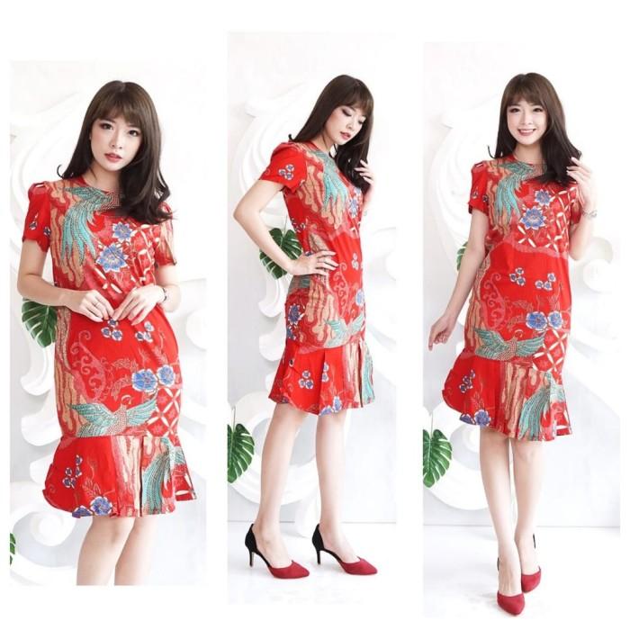 Jual Dress Batik Wanita Dress Batik Modern Dress Batik Modern Model Jakarta Pusat Dewi Toserba Jaya Tokopedia