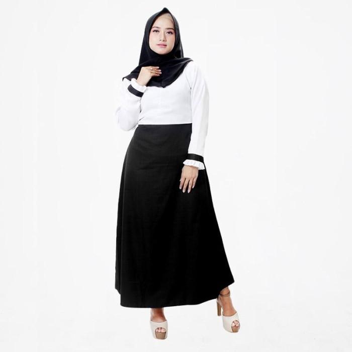 Jual Muslimore Balotelli Formal Baju Gamis Muslim Wanita - Hitam ... cf9b09a317
