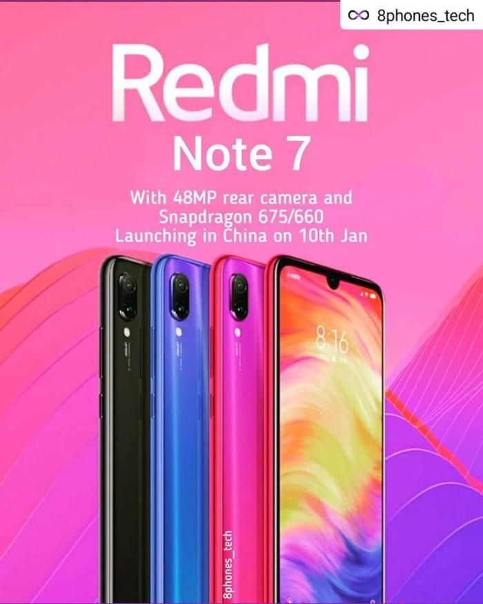 Jual Xiaomi Redmi Note 7 4gb 64gb Bukan Mi 8 9 Mi9 Mi A2 A3 Note 5