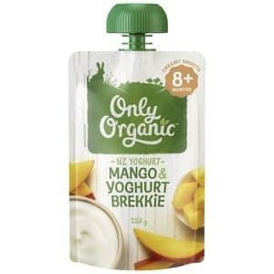harga Only organic pouch food mango & yoghurt brekkie 9+ Tokopedia.com
