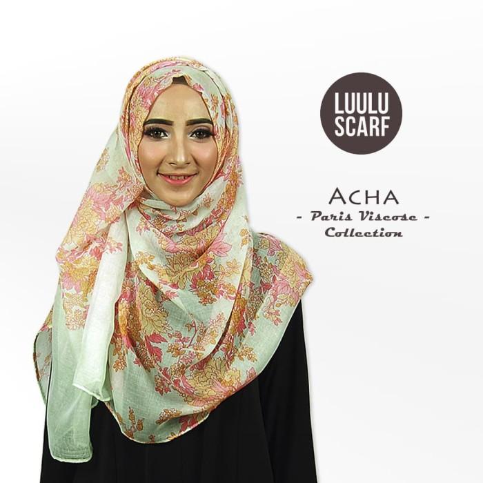 Acha   bunga   bahan paris   pashmina motif / jilbab / kerudung