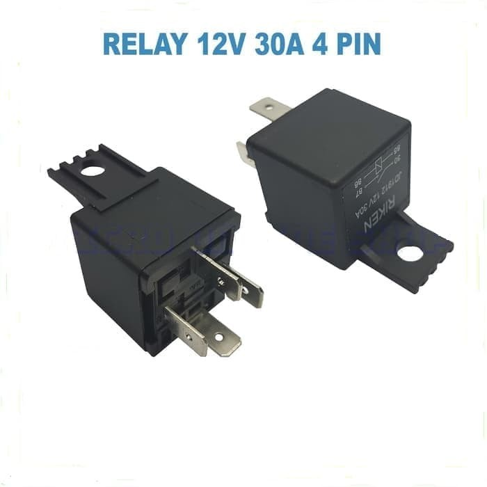 Jual Relay 12V 30A 4 Pin / Relay 12 Volt 30 Ampere 4 Kaki - DKI Jakarta -  flipper | Tokopedia