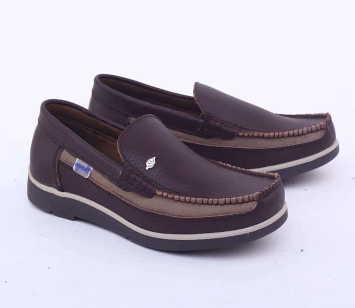 Jual Garsel Sepatu Casual Pria Dewasa Kulit Coklat Gan 1627 Murah