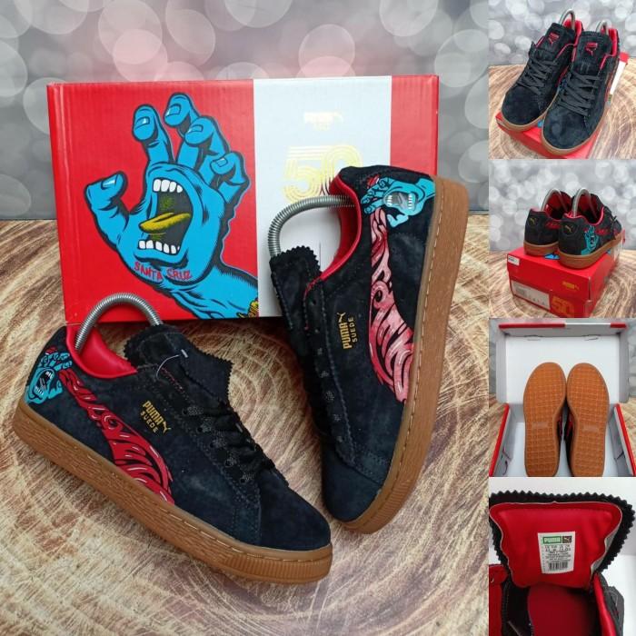 c4c3e34bd760 Jual Puma Suede Classic X 50TH SANTA CRUZ Black Gum Red - Original ...