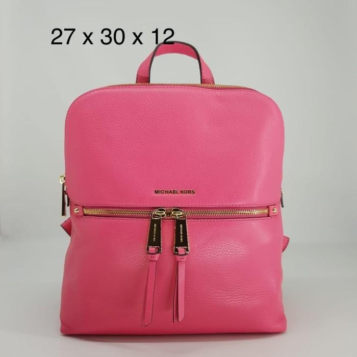 464a7fc24ce46b Jual TAS MICHAEL KORS ORIGINAL - MK RHEA SLIM BACKPACK ROSE PINK la ...