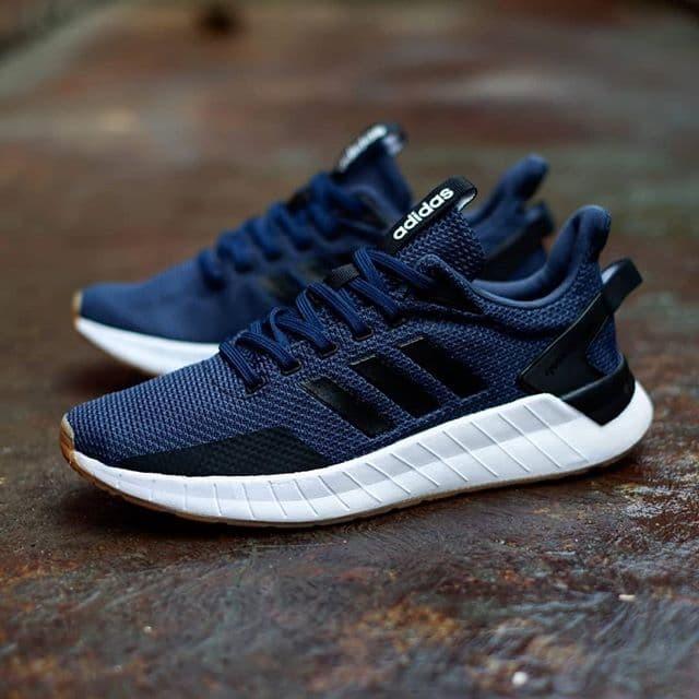 1055935465b Sepatu Adidas Questar Ride Navy Black White Original Made In Indonesia