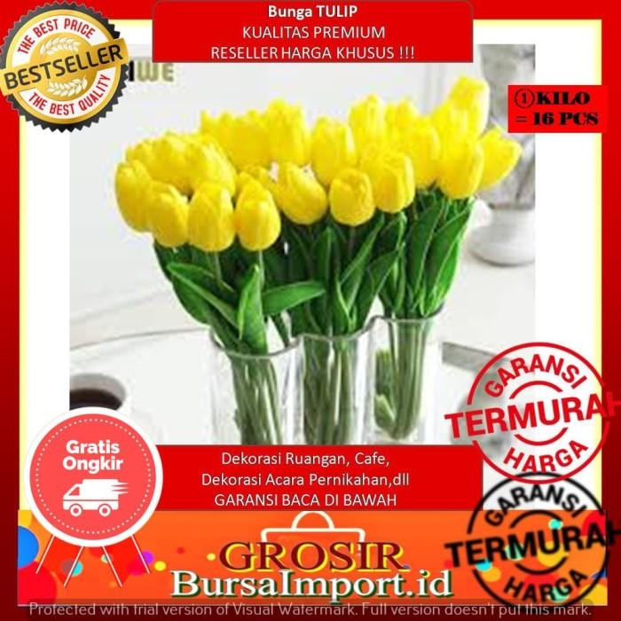 7 Warna Bunga TULIP Artifisial Bunga Palsu Dekorasi Ruangan Murah - Merah  Fajar 35187fb393