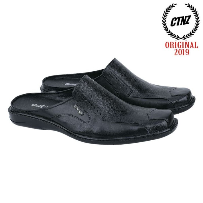 Jual Sepatu Sandal Pria Kulit Hitam Catenzo Ya 040 Kota Bandung Fair Fashion Tokopedia