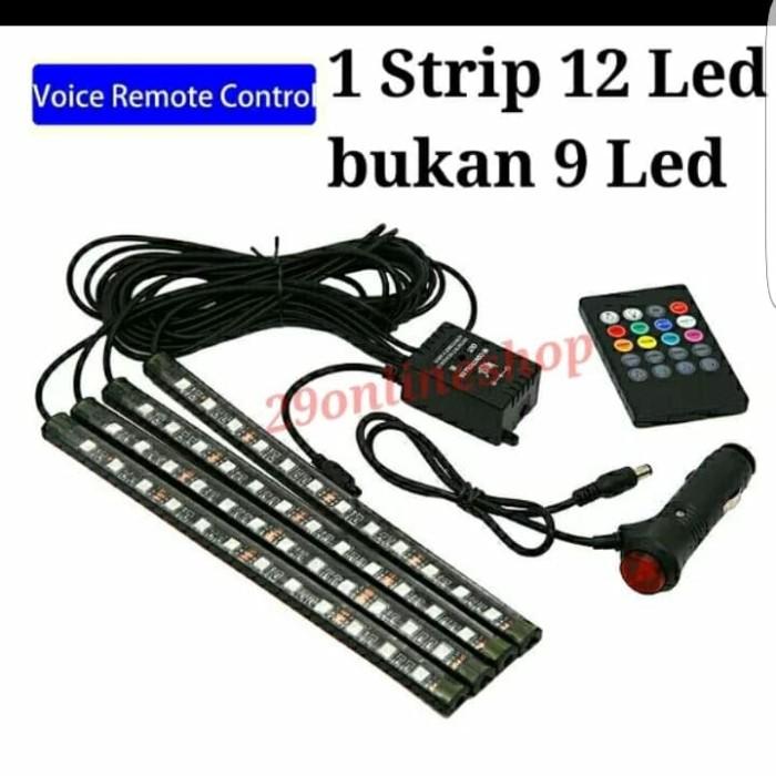 harga Lampu led kolong dashboard rgb 12 x 4 dg sensor musik Tokopedia.com