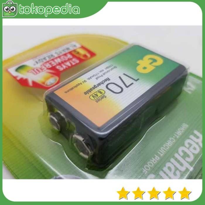Baterai isi ulang GP 9v Rechargeable Battery / baterai kotak - -R1554