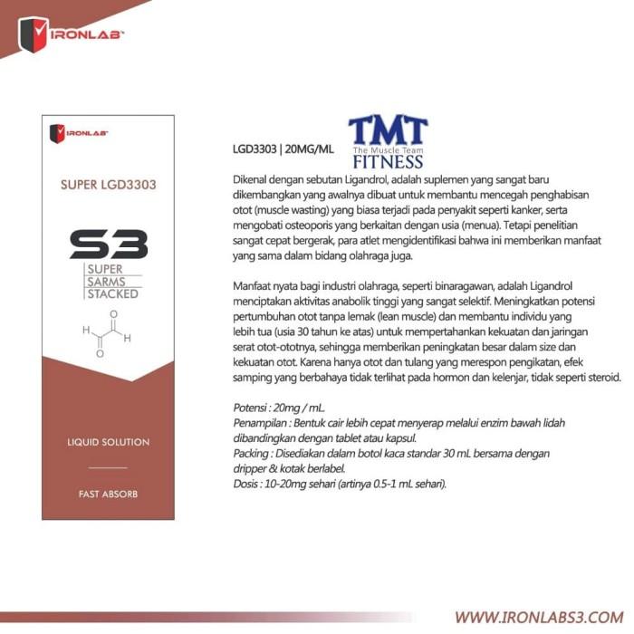 Jual Super SARMs Stacked S3 LGD3303 Ligandrol Ironlabs3 S 3 LGD 3303 Orig -  DKI Jakarta - ramastor   Tokopedia