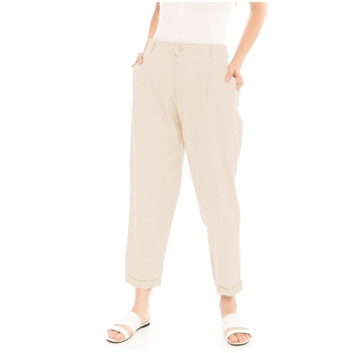 Foto Produk Kama Linen Pants in Beige - Beatrice Clothing Official dari Beatrice Clothing