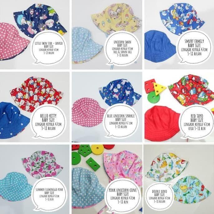 8ea5ca199ea Jual Terbaik - Topi Bucket Hat Baby Size - Ukuran Bayi - gungun ...