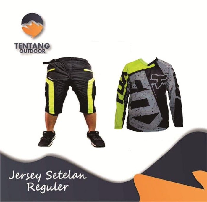 harga Jersey sepeda gowes fox motor cross downhill setelan i035 celana 3/4 Tokopedia.com