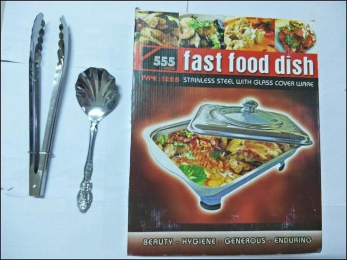 Tempat Makan Prasmanan Silver 555 Sa Free Penjepit Makanan Free