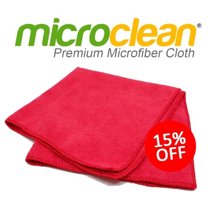 [Harga GROSIR] Kain Lap Microfiber Cloth 40x40cm - RED Microclean