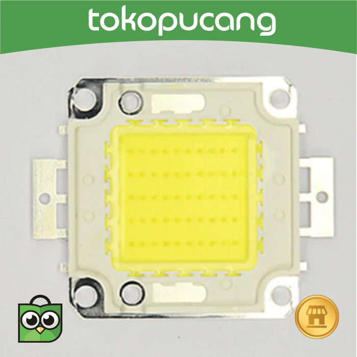 Foto Produk 50W LED High Power LED Pure White Lamp Beads 1500mA 32-34v Taiwan COB dari Toko Pucang