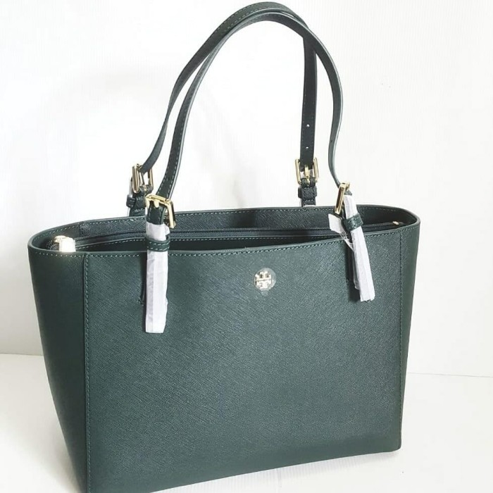 3f380252826d Tas Tory Burch TB Emerson small buckle tote jitney green 30 37x25x13cm