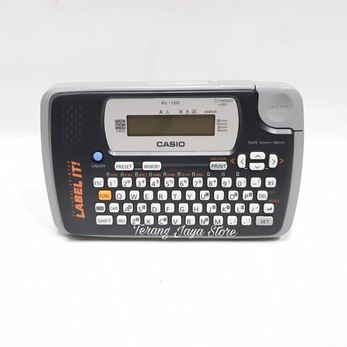 Mesin Printer Label Casio KL 120 W EZ-Label Printer Casio KL-120-