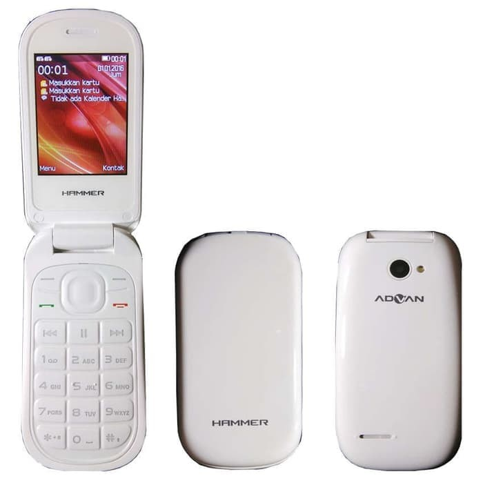 Advan Hammer R3E Handphone Lipat Garansi Resmi - Hitam