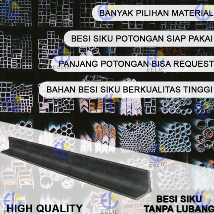 promo EELIC BES-30X30X3MM -100CM Besi Siku Tanpa Lubang Multifungsi