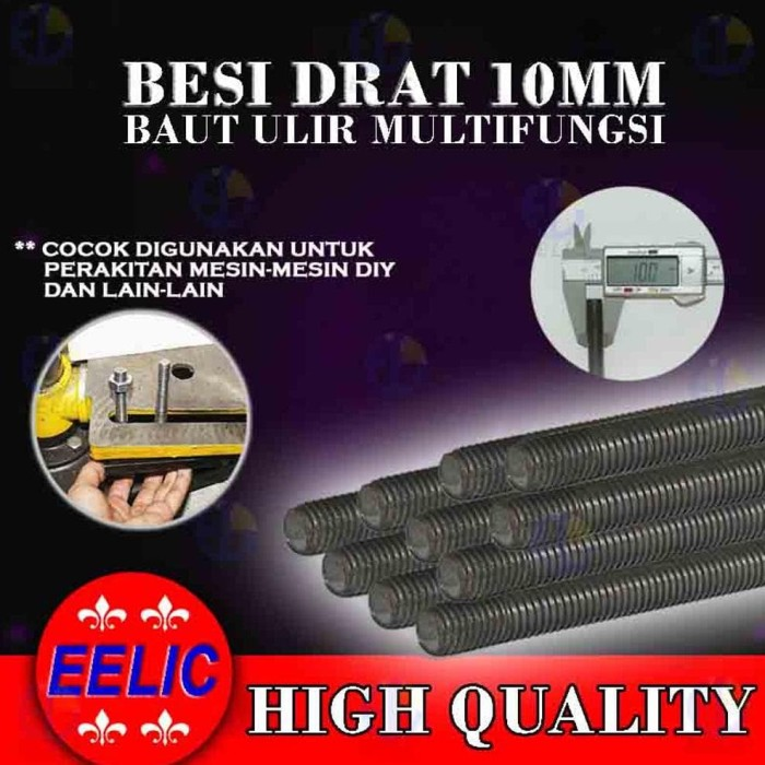 ready EELIC BED-M10X40 BESI DRAT BAUT ULIR DENGAN DIAMETER 10 MM X