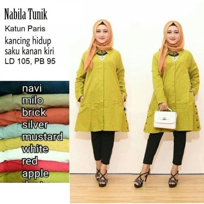 Jual Baju Atasan Muslim Wanita Terbaru Blouse Tunic Amor (MODIS ... c308db1271
