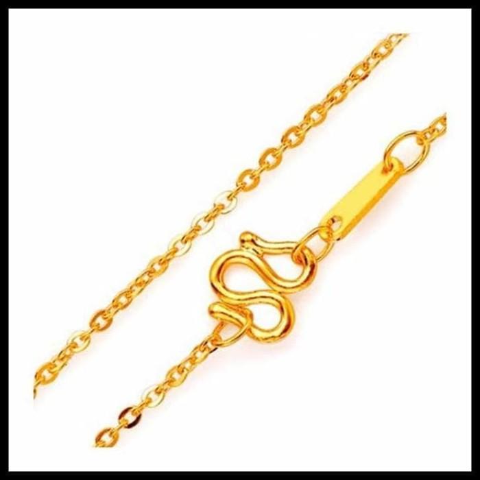 HOT SALE Perhiasan Kalung Emas Tiaria 24 Karat 999 Asli 23