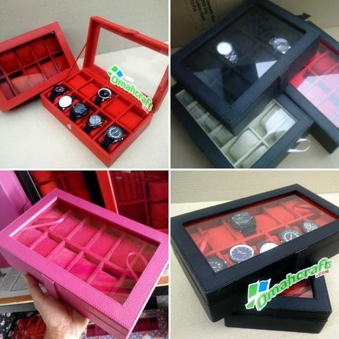 Dijual Termurah Kotak Jam Tangan Isi 12   Tempat Jam Tangan   Box Jam 96a2ef23d5