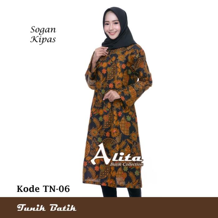 Jual Tunik Batik Wanita Dress Batik Baju Batik Atasan Wanita 06 ... cb650486c9