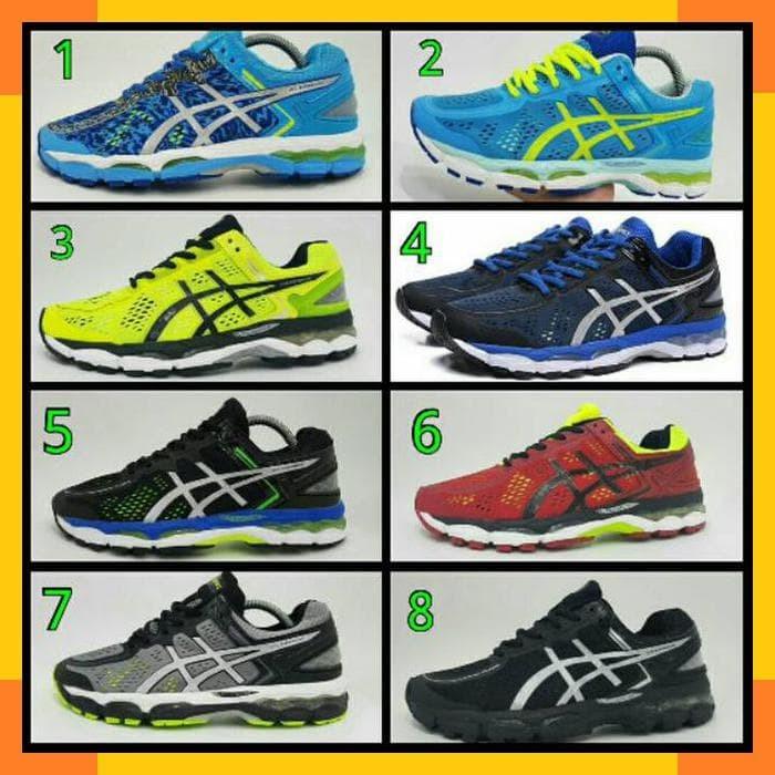 jual asics gel kayano all colour sepatu running volly pria