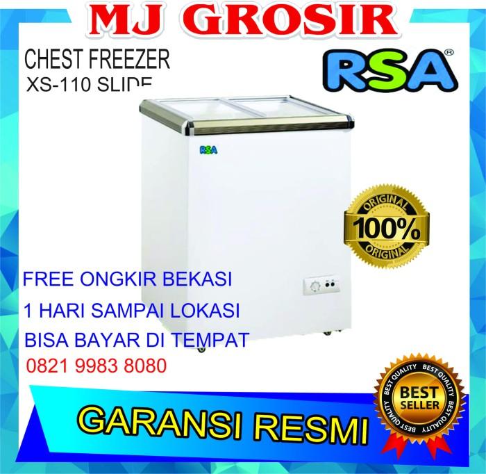 harga Rsa xs 110 chest freezer box sliding 100 l lemari pembeku by gea Tokopedia.com