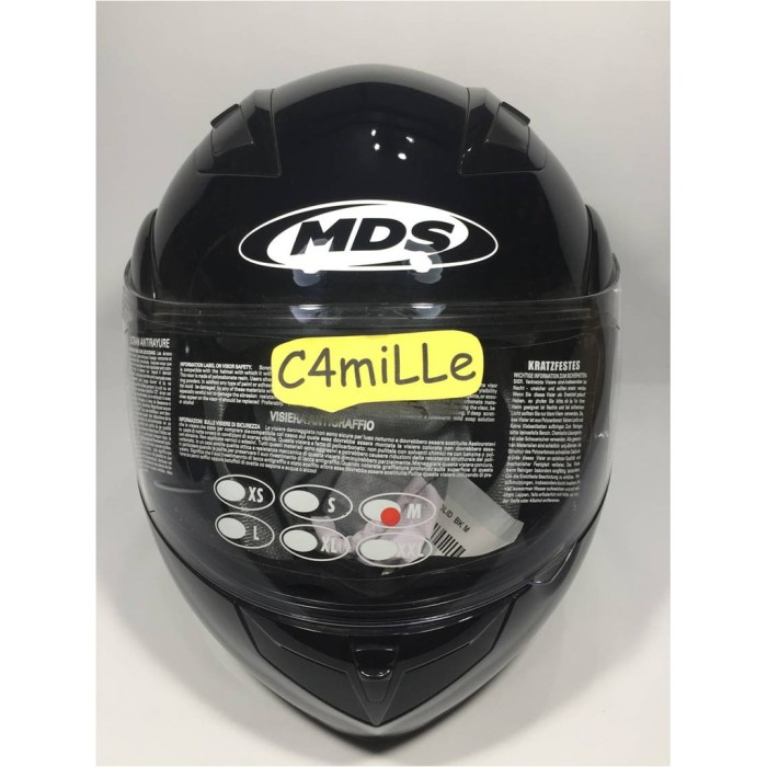 HELM MDS PRO RIDER SOLID BLACK MODULAR FULL