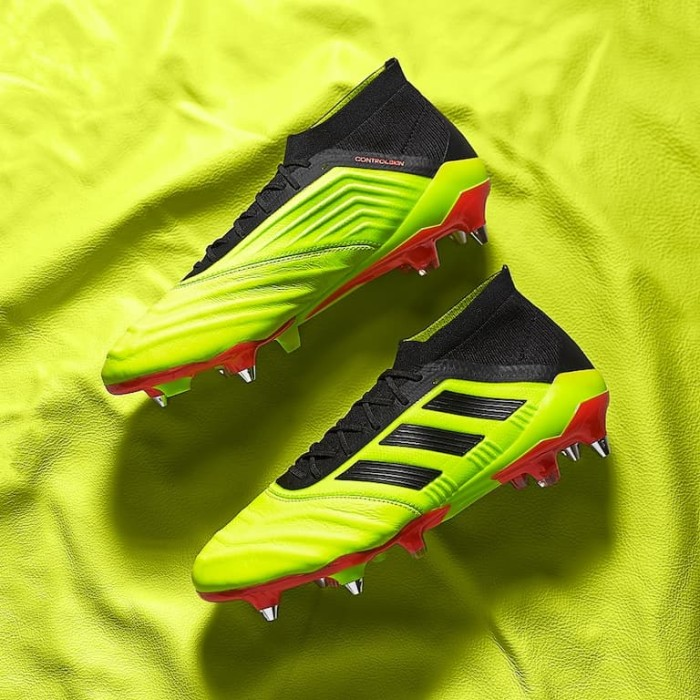 Jual Sepatu Bola Adidas Original Predator 18 1 Leather Sg Yellow