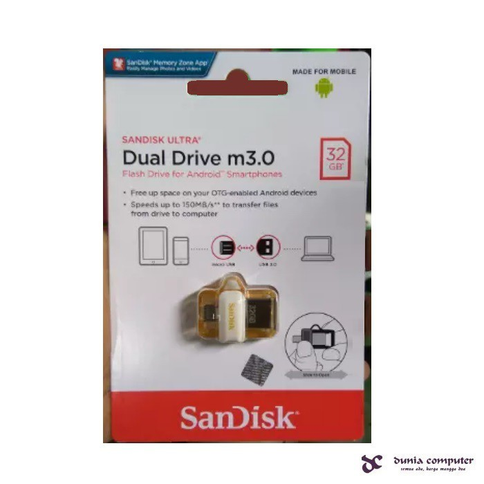 SANDISK OTG Dual Drive m30 32GB Limited GOLD Edition ORIGINAL