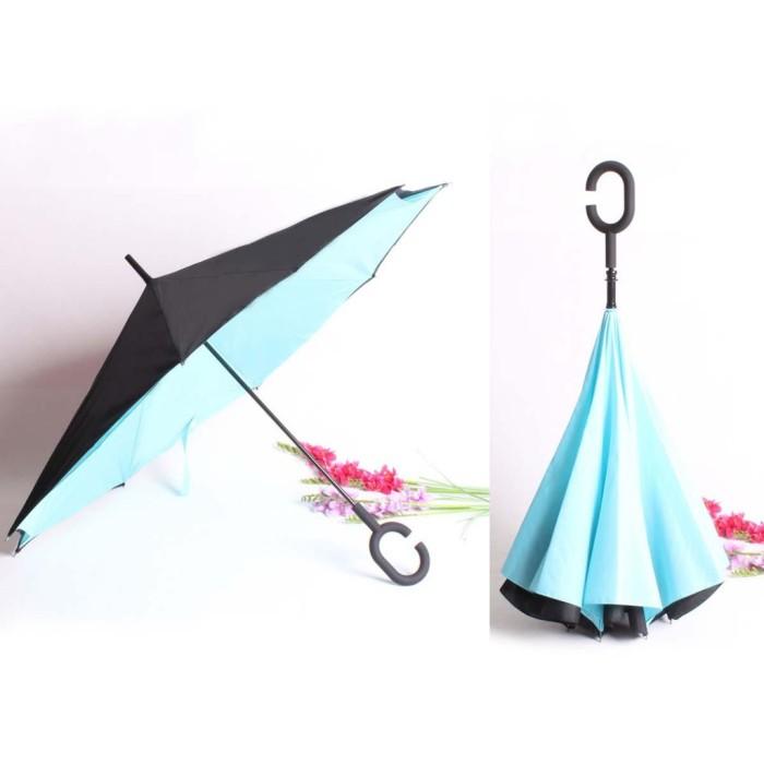 Reverse Umbrella Payung Terbalik Kazbrella 01 Gagang C Lipat Mobil
