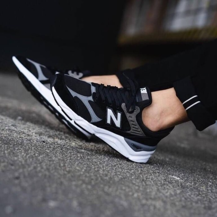 new balance msx90 black on feet