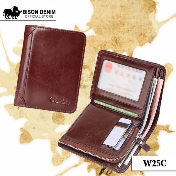 Foto Produk TERLARIS Dompet Kulit Pria Zipper Pocket Bison Denim Official Bifold dari 4gusmart