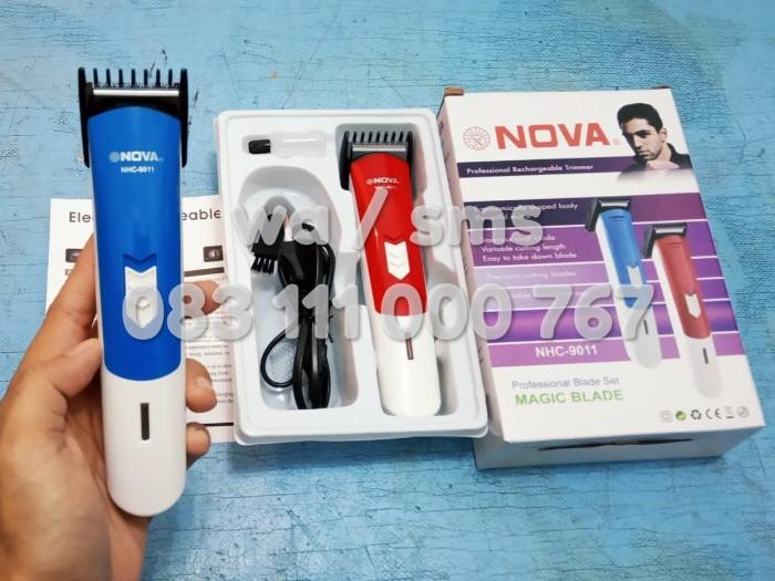 NOVA Hair Clipper Timer Alat Cukur Rambut Elektrik Tanpa Kabel