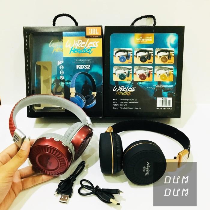 ff7fb028dc3 JBL KD32 HARMAN BLUETOOTH HEADPHONE WIRELESS STEREO MIC EARPHONE TF FM