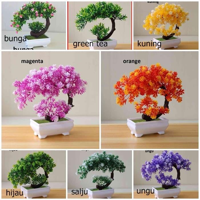Hiasan Bonsai Sabit Mini Bonsai Plastik Bonsai Artifisial Pohon Meja - SALJU c892a9cd01