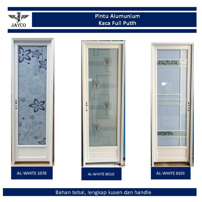 Foto Produk Pintu Alumunium / Aluminium Jayco Putih Kaca Full + Gagang + Kusen dari serisaito