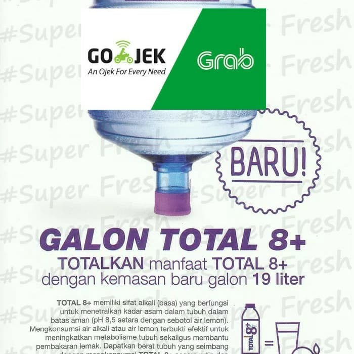 Jual Total 8 Water Galon 19 Lt Air Minum Air Alkali Jakarta Timur Super Fresh Tokopedia
