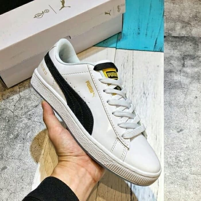 Jual Sepatu sneakers PUMA X Korea BTS original import WHITE BLACK ... 0949951a65